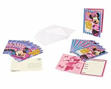 Minnie Mouse Bow-Tique Party Invite and Thank You Combo, 8ct each