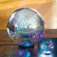 Color Changing Lighted Gazing Ball Indoor Or Outdoor Patio Garden Tabletop