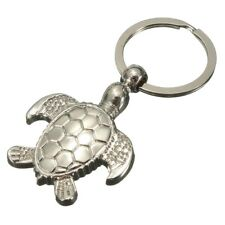 3D Silver Exquisite Textured Sea Turtle Keyring - Metal Keychain Keyfob Key L7R3