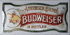 Budweiser Blechschilder größer als 15 x 30 cm