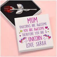 PERSONALISED Unicorn Birthday Gifts for Mummy Nanny Mum Nanna Auntie Her