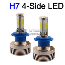 2x 4-Side H7 LED Headlight Kit Bulbs 80W Super Bright 6000K Crystal White