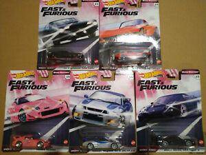 Hot Wheels Fast & Furious Quick Shifters Corvette Honda Nissan  lot de 5 (cart)