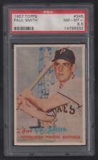 1957 TOPPS SET BREAK #345 PAUL SMITH PSA 8.5 NM - MT+