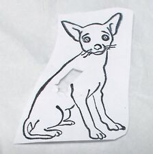 Cute dog rubber stamp pointy ears sitting unmounted die only Domestic animals