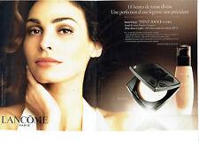 Publicité Advertising 107  2009   Lancome (2p) cosmétiques cremes  & Inés Sastre