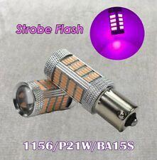 Strobe Front Signal Light 1156 BA15S 3497 7506 P21W 92 LED Bulb Purple W1 JAE