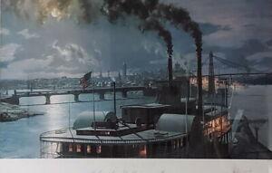 "john stobart's "" sidewheel steamer dean adams""  pittsburgh"
