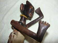 UNUSUAL ANTIQUE NEW GUINEA ? OCEANIC ? TRIBAL ART CARVED FIGURE with MOVING ARMS