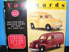 Austin and Morris vans in British rail livery   RHD Vanguards 1:43 rd.Scale