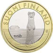 5 euro commémorative FINLANDE 2015 - Animals - Ostrobothnia - Stoat - L'Hermine