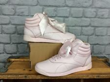 REEBOK LADIES UK 6 EU 39 PALE PINK FREESTYLE HI SATIN BOW TRAINERS RRP £85