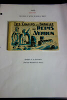 France Stamps 1919 Booklet w/ Set 10 mint picture post cards pristine