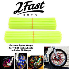 2FastMoto Spoke Wrap Kit Hi Vis Custom Colors Spokes Wraps Skinz Yamaha