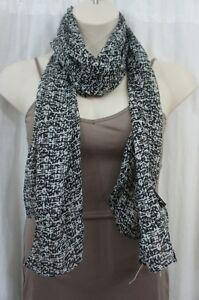 Cejon Scarf Sz OS One Size Black Multi Shawl Wrap Polyester Printed Casual