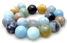 "SALE Big 20mm Round mixcolor Amazonite loose gemstone beads strand 15""-los333"