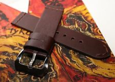 Handmade 24mm Thick Top Grain Cowhide Leather Watch Strap PAM - BAD BOY EDITION
