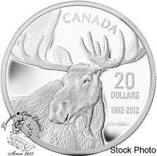 Canada 2012 $20 Robert Bateman Bull Moose Pure Silver Coin