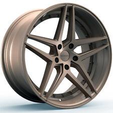 4-NEW ROSSO 701 REACTIV 20x8.5 5x112 +34mm Bronze Wheels Rims