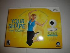 BRAND NEW Your Shape Jenny McCarthy (Nintendo Wii, 2009) Fitness game+usb camera