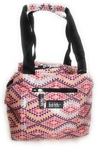 "Nicole Miller Insulated 11"" Lunch Tote Reusable Bag  Fiesta Pink"
