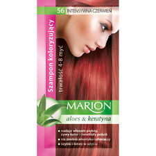 MARION Hair Color Shampoo in Sachet Lasting 4 to 8 Washes Aloe and Keratin - 56