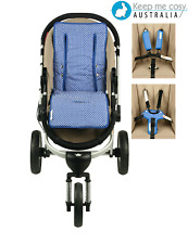 Keep Me Cosy Universal Pram Liner FREE Harness & Buckle Cosy - Classic Blue Spot
