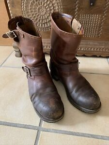 Red Wing Shoes Boots Round Toe Mod. 2972 Gr. 43 US 10 D Biker Steel Toe