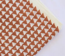 Pure Cotton Handmade block triangle Printed Naturally Dyed fabric