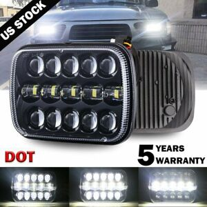 1pc DOT 7x6'' 5x7 LED Headlight DRL Projector Beam for Tacoma Tundra 4Runner