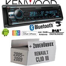 Renault Clio 3 Autoradio Radio Kenwood DAB+ Bluetooth CD USB Android Einbauset