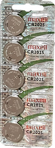 5 x CR2025 Maxell 2025 Lithium Knopfzelle  Batterie