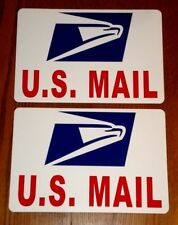 """(2)  U.S. MAIL Magnetic Sign  USPS - 8"""" X 12"""" USA Made FREE SHIP Rounded Corners"""