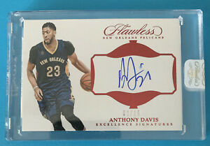 2016-17 Panini Flawless: Anthony Davis (Lakers) Excellence Signatures Ruby 02/15