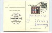 1965 Sonderstempel HAMBURG Du und Deine Welt Ganzsachen Postkarte