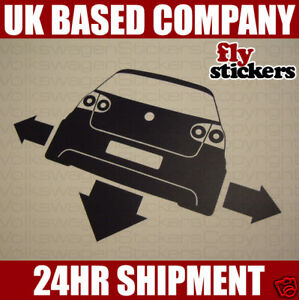 NEW* Down and Out Sticker, Volkswagen Mk5 Golf GTI 20vt