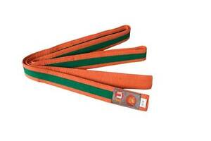 Ju-Sports Budo-Gürtel orange/grün/orange  Karate, Judo, Ju-Jutsu, Taekwondo