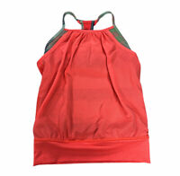 Ivivva by Lululemon Girls Double Dutch Tank Top Sports Bra 6 Bright Pink Orange