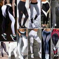 Pantaloni donna Sport Yoga Mesh leggings danza sport fitness corsa palestra