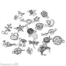 1Set Mix Tibetan Silver Tone Pendants For Necklace Bracelet Antique 10.5cmx5.9cm