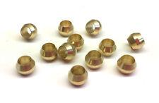4mm ID x 12pcs Brass Compression Sleeve Ferrule Olive Barrel Ring Soft Copper