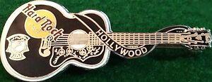 Hard Rock Cafe HOLLYWOOD 1998 ELVIS PRESLEY Black GUITAR PIN Dead Rocker #2890