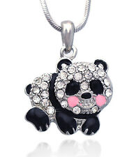 Baby Panda Bear Pink Cheek Animal Charm Pendant Necklace Girl Women Jewelry