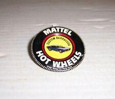 Vintage 1967 Mattel Hot Wheels Custom Barracuda  Metal Tab Pin Button Badge