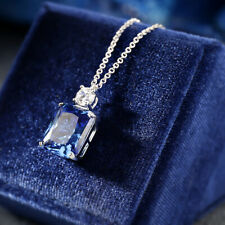 Luxury! Inspired Sapphire Necklace,High Imitation Sapphire Necklace, S925 Silver