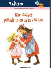 Buch Madita Madicken SCHWEDISCH,Astrid Lindgren, När Lisabet pillade..... NEU
