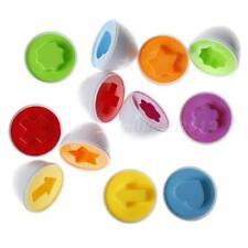 6Pc Plastic Eggs Shape Pairing Puzzle Toys Children Toddler Educational Toy