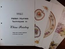 Supplement A to Helen Humes Techniques in China Painting