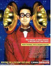 PUBLICITE ADVERTISING 116  1996  Canal Satellite numérique  Muzzik en son laser