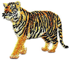 TIGER - WILD ANIMAL - ZOO & JUNGLE ANIMALS -Iron On Embroidered Applique Patch